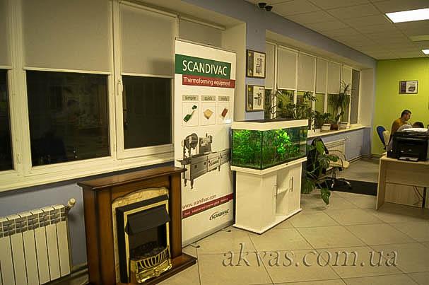 Аквариум травник, в офисе. Киев, Дарницкий район